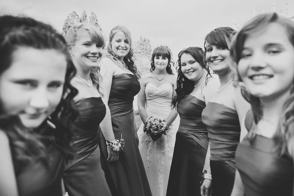Bride and bridesmaids at Grittleton House